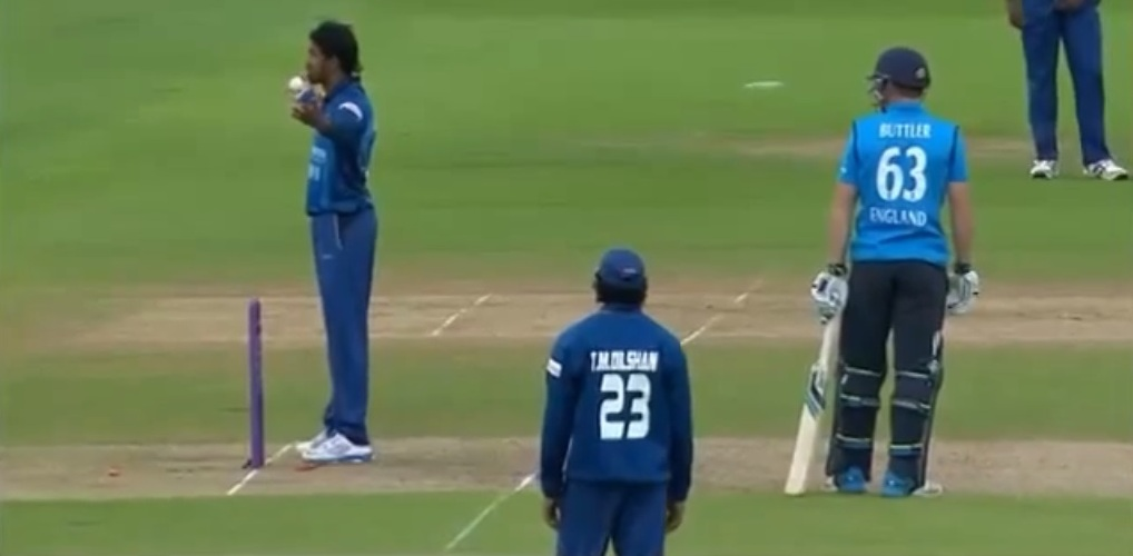 Controversial run-out Jos Buttler Sachithra Senanayake England vs Sri Lanka ODI 2014.