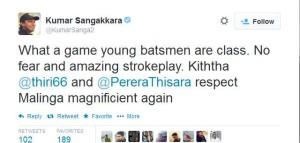 Kumar Sangakkara (KumarSanga2) on Twitter