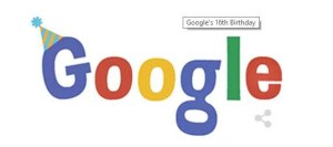 Google's 16th Birthday marked with Doodle on September 27